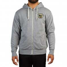 Girl Great Seal Sherpa Lined Zip Up Hoodie - Grey Heather