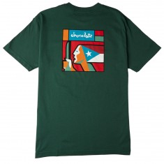 Chocolate Boricua T-Shirt - Forest Green