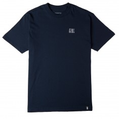 Girl Campus Embroidered T-Shirt - Navy