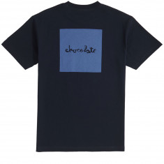 Chocolate Tonal Square T-Shirt - Navy