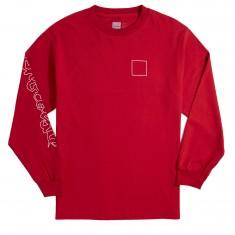 Chocolate Line Chunk And Square Long Sleeve T-Shirt - Cardinal
