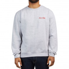 Chocolate Mini Chunk Embroidered Crew Sweatshirt - Gunmetal Heather