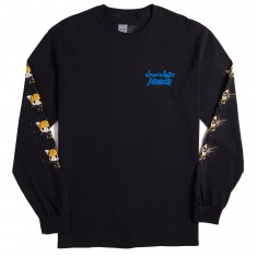 Chocolate X Sanrio Aggretsuko Long Sleeve T-Shirt - Black