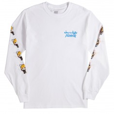 Chocolate X Sanrio Aggretsuko Long Sleeve T-Shirt - White