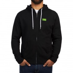Girl Yeah Right Zip-Up Hoodie - Black
