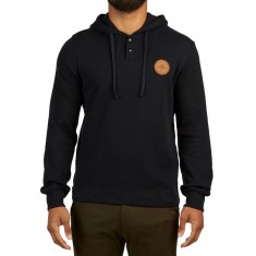 LRG Thermal Hooded Henley Shirt - Black