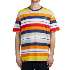 LRG Brilliant Youth Stripe Knit Shirt - Patriot Blue