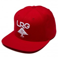 LRG Research Group Snapback Hat - Red/White