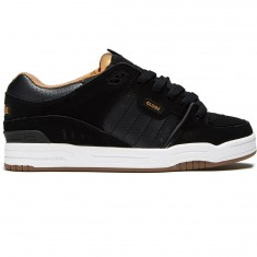 Globe Fusion Shoes - Black/White/Tobacco