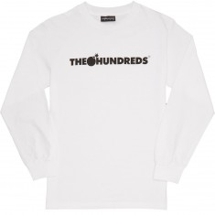 The Hundreds Forever Bar Logo Longsleeve T-Shirt - White