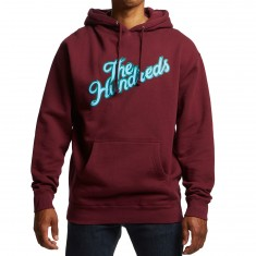 The Hundreds Wheel Slant Hoodie - Burgundy