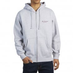The Hundreds Rich Crest Zip Up Hoodie - Athletic Heather