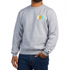 The Hundreds Wildfire 6 Crewneck Sweatshirt - Athletic Heather