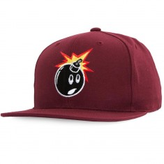 The Hundreds Adam Snapback Hat - Burgundy