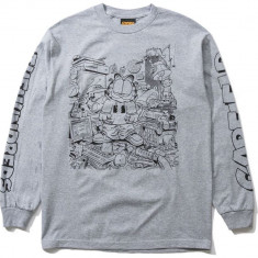 The Hundreds X Garfield Long Sleeve T-Shirt - Athletic Heather