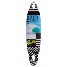 "Gravity 40"" Pindrop Lifes A Beach Longboard Deck"