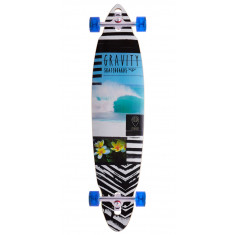 "Gravity 40"" Pindrop Lifes A Beach Longboard Complete"
