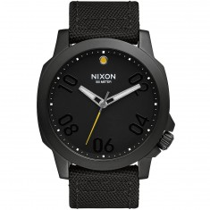 Nixon Ranger 45 Nylon Watch - All Black