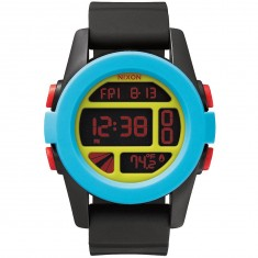 Nixon Unit Watch - Black/Blue/Chartreuse