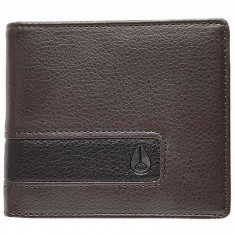 Nixon Showdown Bi-Fold Zip Wallet - Brown