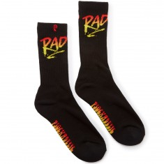 Psockadelic Rad Socks - Black/Red