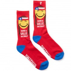 Psockadelic Willie Nice Socks - Red/Yellow