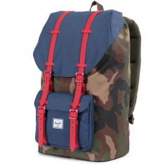 Herschel Little America Backpack - Woodland Camo/Navy/Red
