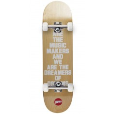 Hopps We Are The Music Skateboard Complete - White - 8.375""