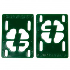 "Lucky 1/8"" Skateboard Risers - Green"