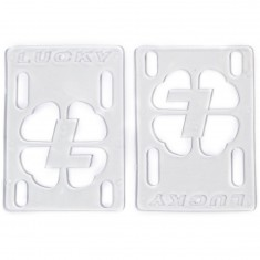 "Lucky 1/8"" Skateboard Risers - Clear"