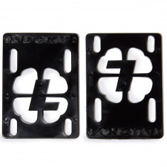 "Lucky 1/8"" Skateboard Risers - Black"