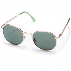 Happy Hour Riley Hawk Holidaze Sunglasses - Gold With Green Lens