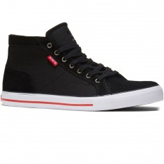 State Salem Shoes - Black/White/Red Suede