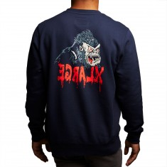 XLarge X-Scream Crewneck Sweater - Navy