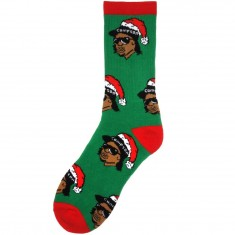 40s And Shorties Eazy Claus Socks - Green/Red