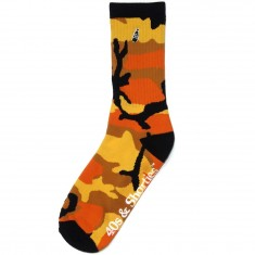 40s And Shorties Orange Camo Pocket Socks - Multi