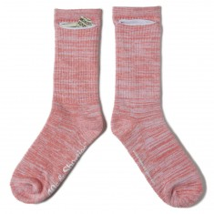 40s And Shorties Speckle Socks - Salmon/White