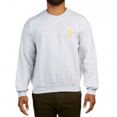 WKND Flower Embroidered Crewneck Sweatshirt - Heather Grey