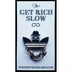 Get Rich Slow D.M.C Silver Chain Pin