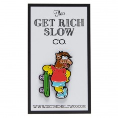 Get Rich Slow Alf Simpson Pin