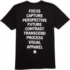 Visual Listed T-Shirt - Black