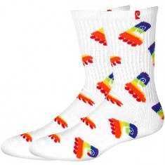Psockadelic Fruit Boot 2 Scented Socks - White/Rainbow