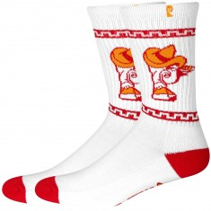 Psockadelic Horchata Scented Socks - Off White/Red