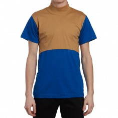 Illegal Civilization Mock Neck Shirt - Blue/Tan