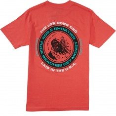 40s And Shorties F Beaches T-Shirt - Coral