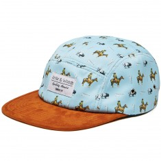Antler And Woods Frontier 5-Panel Hat - Sky Blue