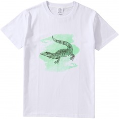 Antler And Woods Gator Watercolor T-Shirt - Grey