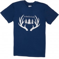 Antler And Woods Big Antler Tri Blend T-Shirt - Navy