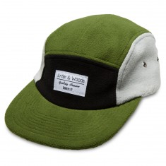 Antler And Woods Wool Fleece 5-Panel Hat - Green/Grey