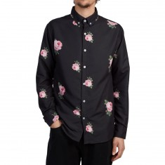 Antler And Woods Vintage Rose Longsleeve Shirt - Black